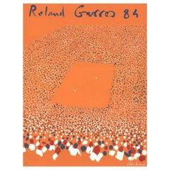 Original Lithograph 'ROLAND GARROS' 1984 Tennis Poster by Gilles-Aillaud