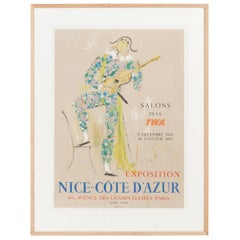 Original Lithography by Jean Cocteau from 1954