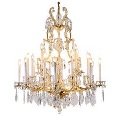 Original Lobmeyr Maria Theresien Crystal Chandelier, Richly Decorated 28 Lights