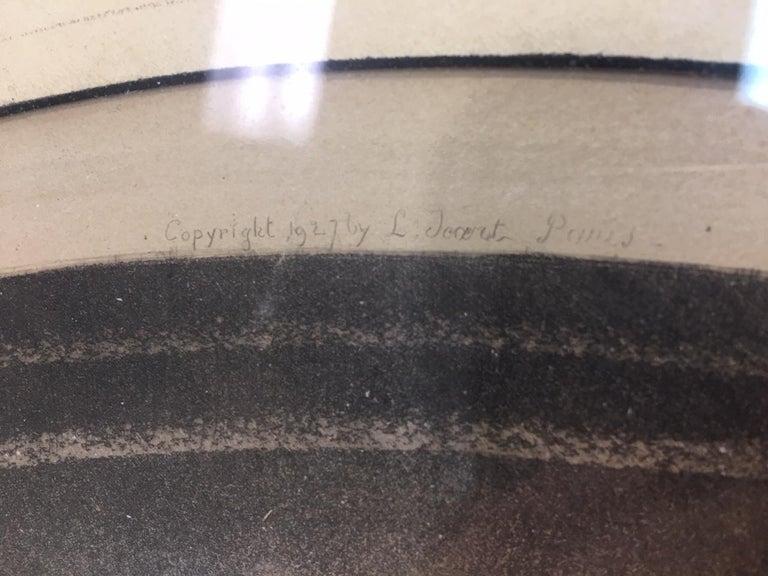 Paper Estate Original Louis Icart Titled Cendrillon Hand Signed Etching Estate Find For Sale