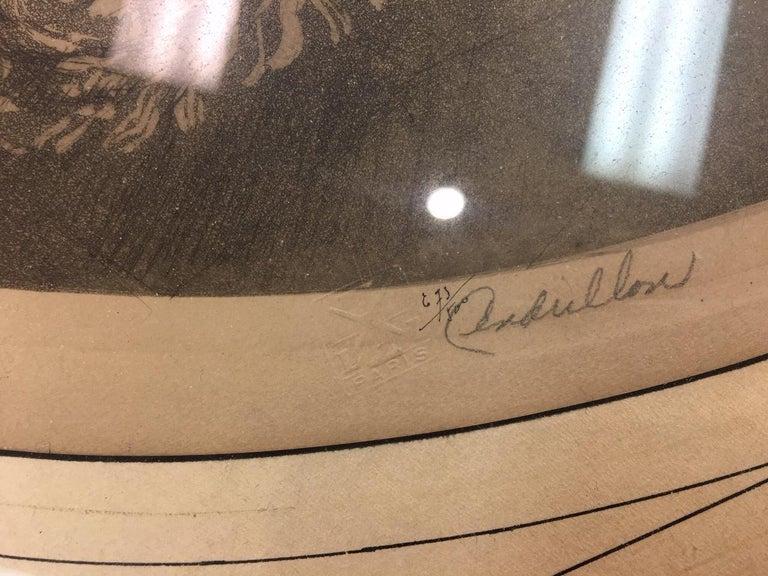 Estate Original Louis Icart Titled Cendrillon Hand Signed Etching Estate Find For Sale 1