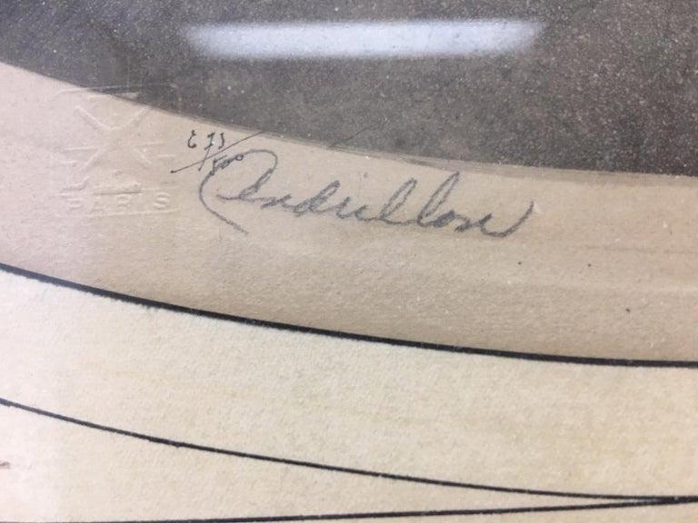 Estate Original Louis Icart Titled Cendrillon Hand Signed Etching Estate Find For Sale 2