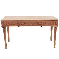Original Louis Seize Style Bureau Mahogany Table, Early 20th Century