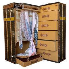Original Louis Vuitton Monogrammed Steamer Trunk, Fully Complete with All Pieces