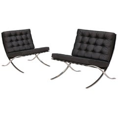 "Original Ludwig Mies van der Rohe ""Barcelona"" Lounge Chairs for Knoll"