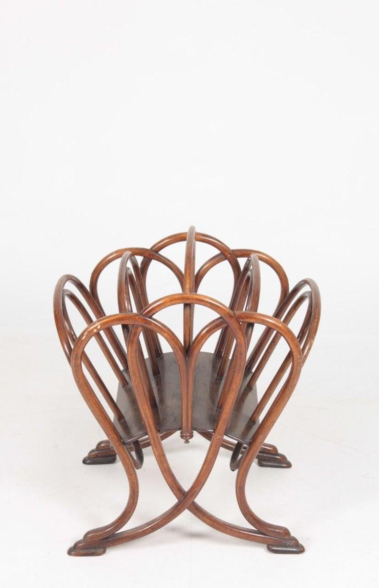 Austrian Original Magazine Rack Designed Thonet, Model No 1 For Sale