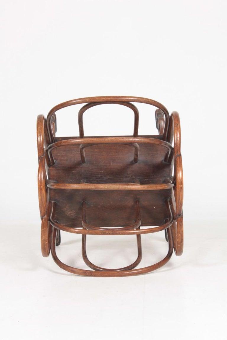 Beech Original Magazine Rack Designed Thonet, Model No 1 For Sale