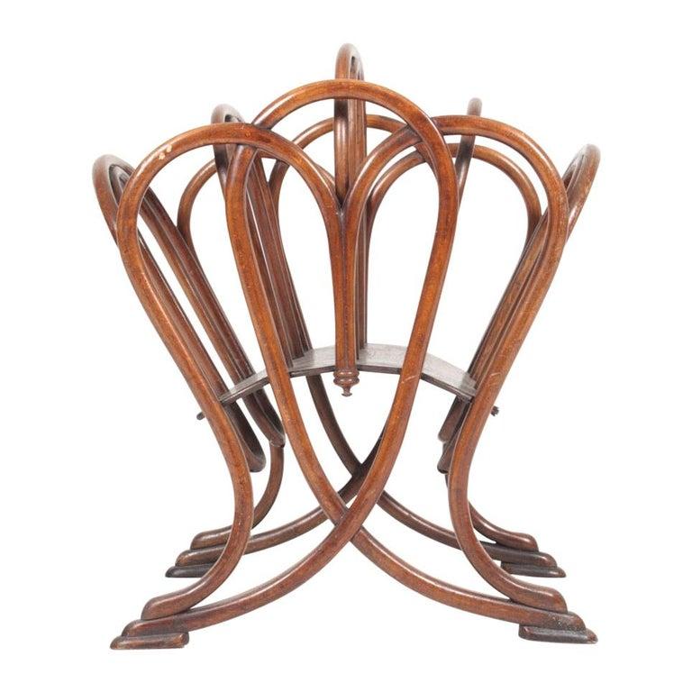 Original Magazine Rack Designed Thonet, Model No 1 For Sale