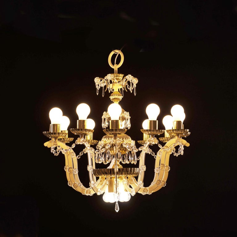 Hand-Crafted Original Magnificent Chandelier Mid-Century Modern, 1960 For Sale