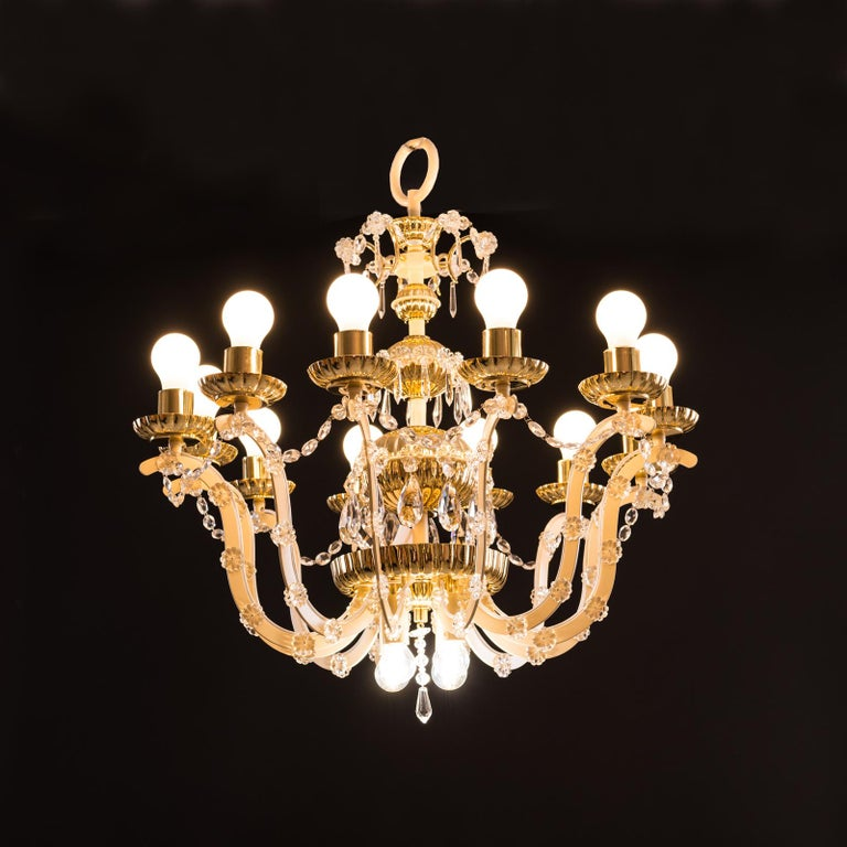 Original Magnificent Chandelier Mid-Century Modern, 1960 In Excellent Condition For Sale In Vienna, AT