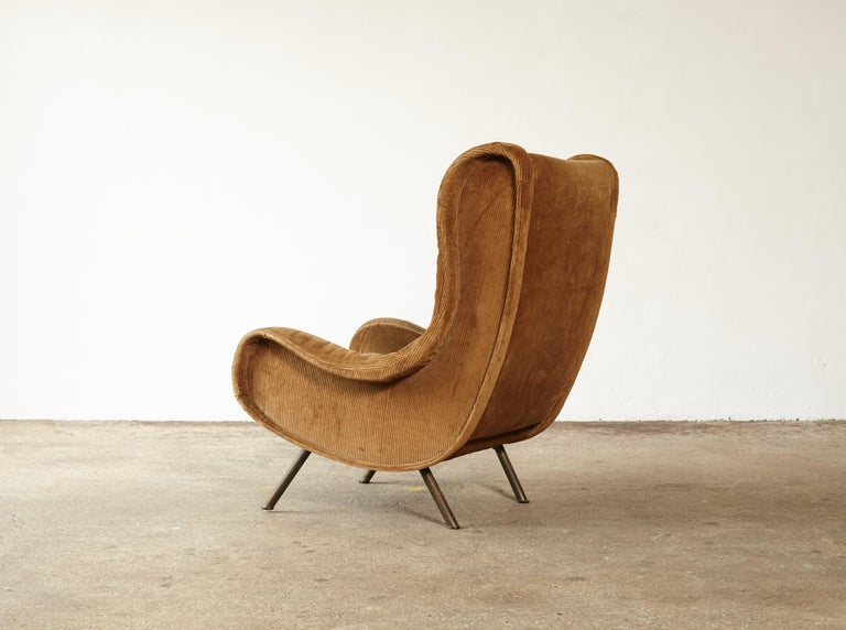 Original Marco Zanuso Senior Chair for Re-Upholstery, Arflex, Italy, 1960s In Good Condition In London, GB