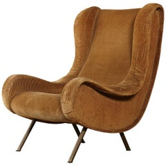 Original Marco Zanuso Senior Chair for Re-Upholstery, Arflex, Italy, 1960s