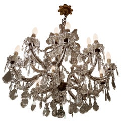 Original Maria Teresa Style Chandelier from the 1930s