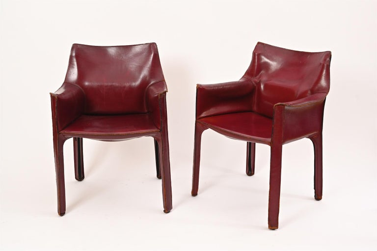 Original Mario Bellini CAB Armchair for Cassina, c1977 In Good Condition For Sale In London, GB