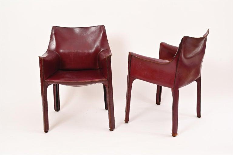 Steel Original Mario Bellini CAB Armchair for Cassina, c1977 For Sale