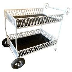 Original Maurizio Tempestini for Salterini Rolling Bar Cart Barcart Service