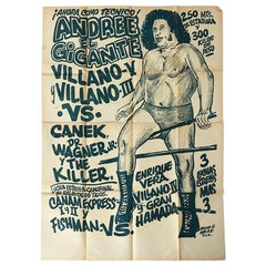 "Original Mexican Wrestling Poster ""André the Giant"""