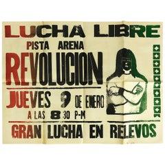 Original Mexican Wrestling Poster 'Arena Revolución'