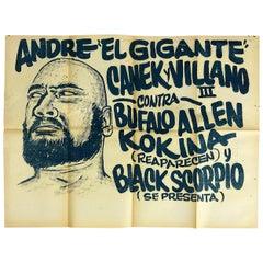 "Original Mexican Wrestling Poster ""Bufalo Allen"""