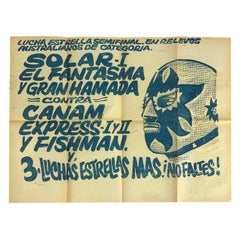 "Original Mexican Wrestling Poster ""Fish Man"""