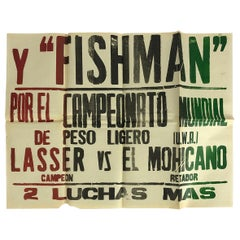 "Original Mexican Wrestling Poster ""Fishman"""
