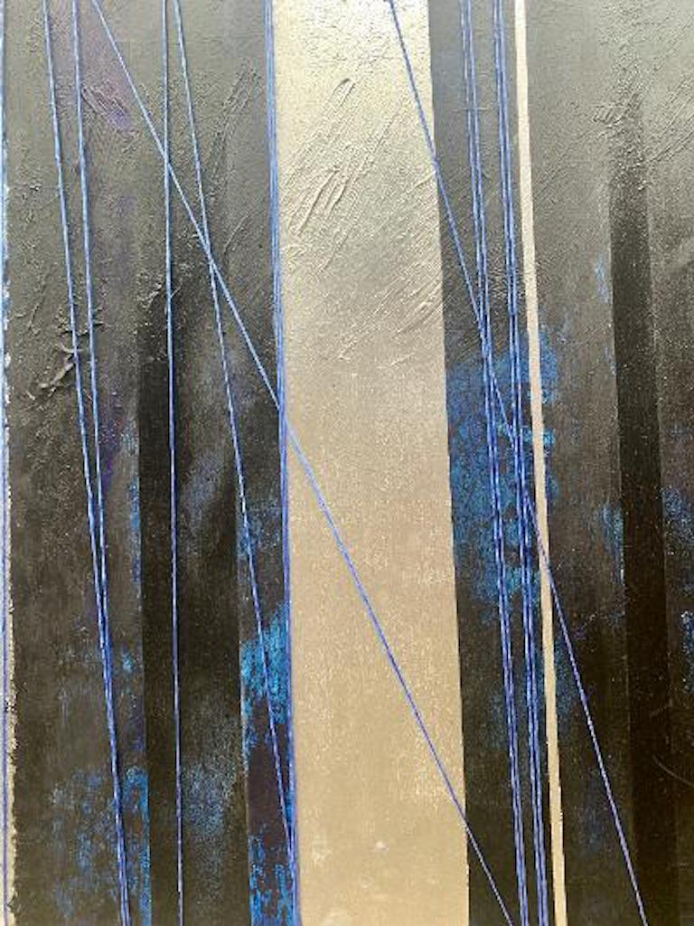 """Hand-Painted Original """"Mezzanine"""" Modern Abstract Painting by Artist Chanel Verdult For Sale"""