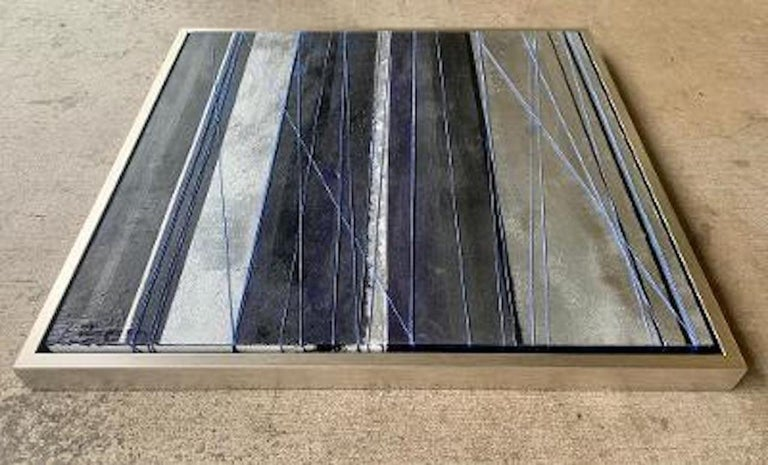 """Original """"Mezzanine"""" Modern Abstract Painting by Artist Chanel Verdult In Excellent Condition For Sale In Tustin, CA"""