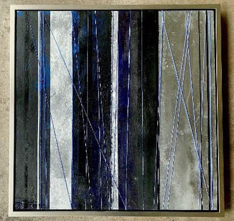 """Acrylic Original """"Mezzanine"""" Modern Abstract Painting by Artist Chanel Verdult For Sale"""