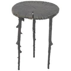 "Original Michael Aram ""Enchanted Forest"" Patinated Aluminum Side Table"