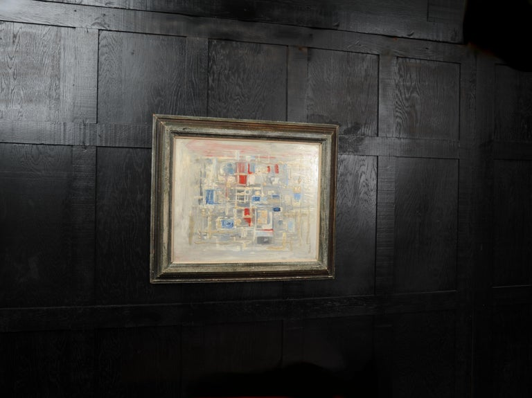 A stunning midcentury abstract oil on board by the listed artist William Ernst Burwell (1911-1974). Beatifully painted with heavily applied textures and other abstract techniques. We have obtained several of the artists works from his studio.