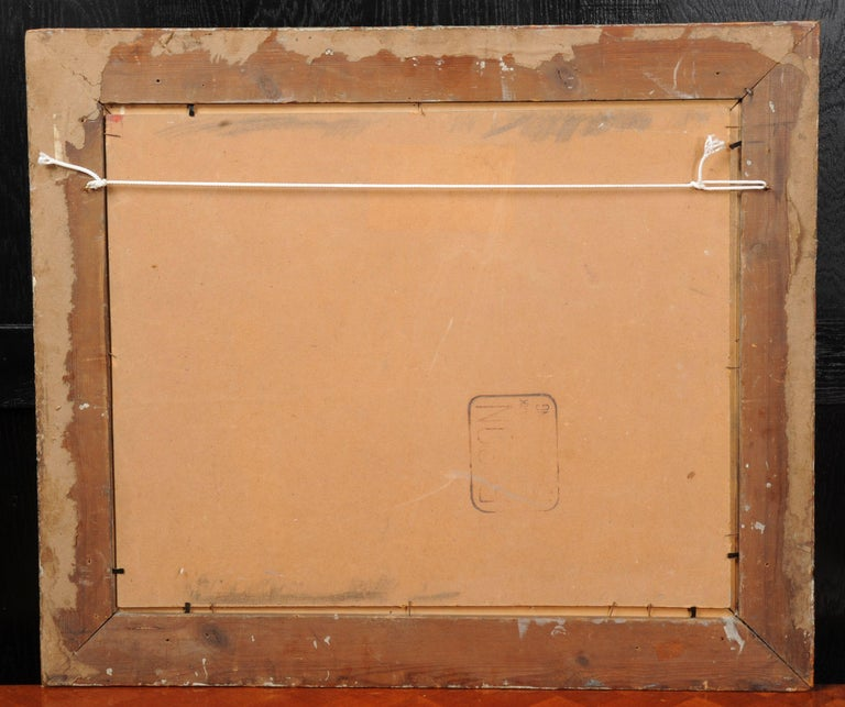 Mid-20th Century Original Midcentury Abstract Oil Painting by William Ernst Burwell, FRSA