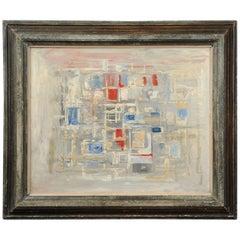 Original Midcentury Abstract Oil Painting by William Ernst Burwell, FRSA