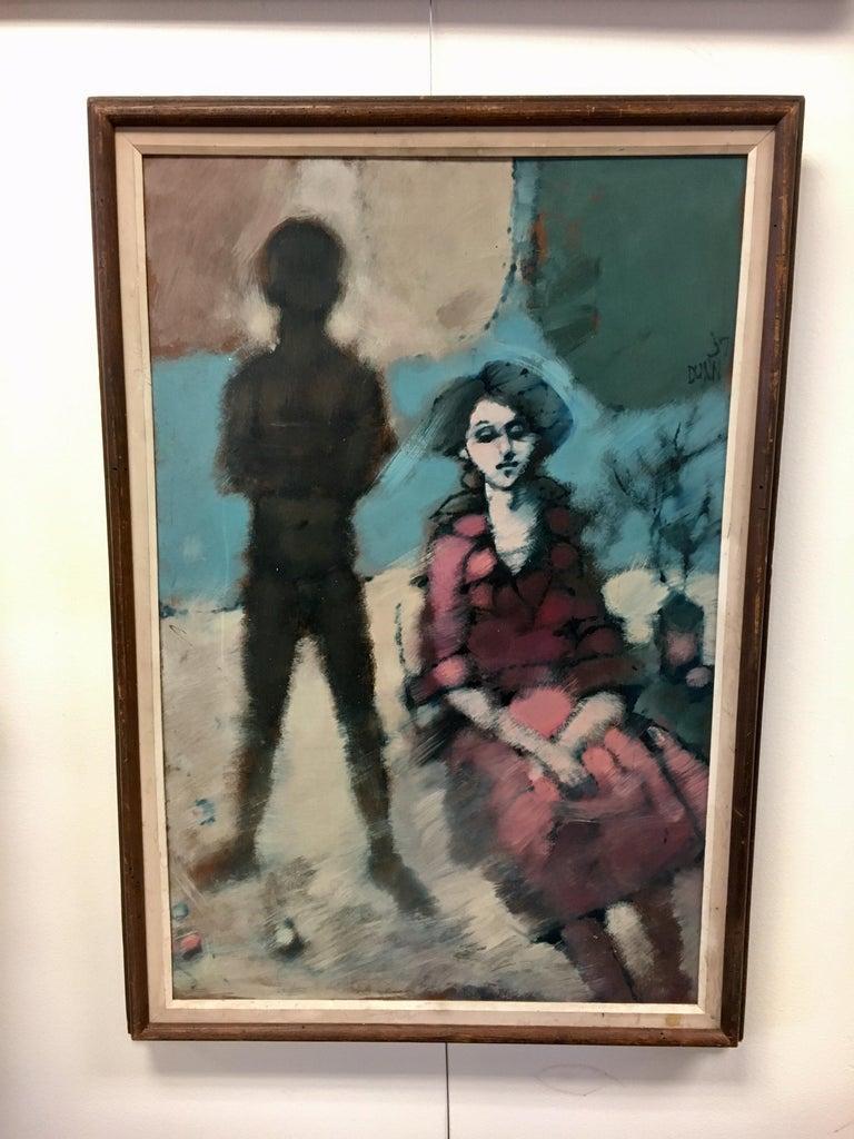 Original Mid Century Modern Artist Signed Painting Dunn, 20 For ...