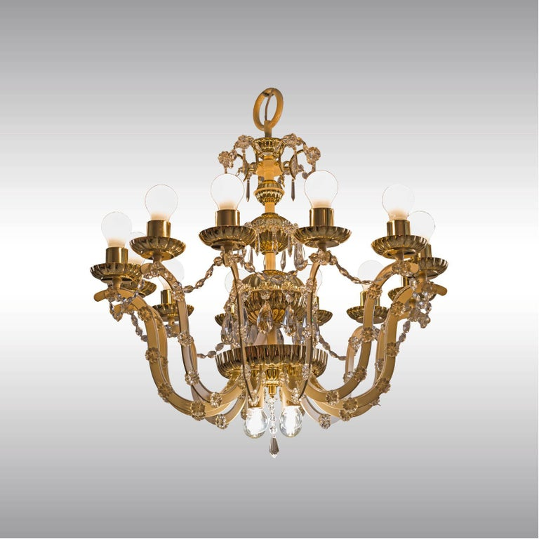 Hand-Crafted Original Mid-Century Modern Magnificent Chandelier, 1960 For Sale