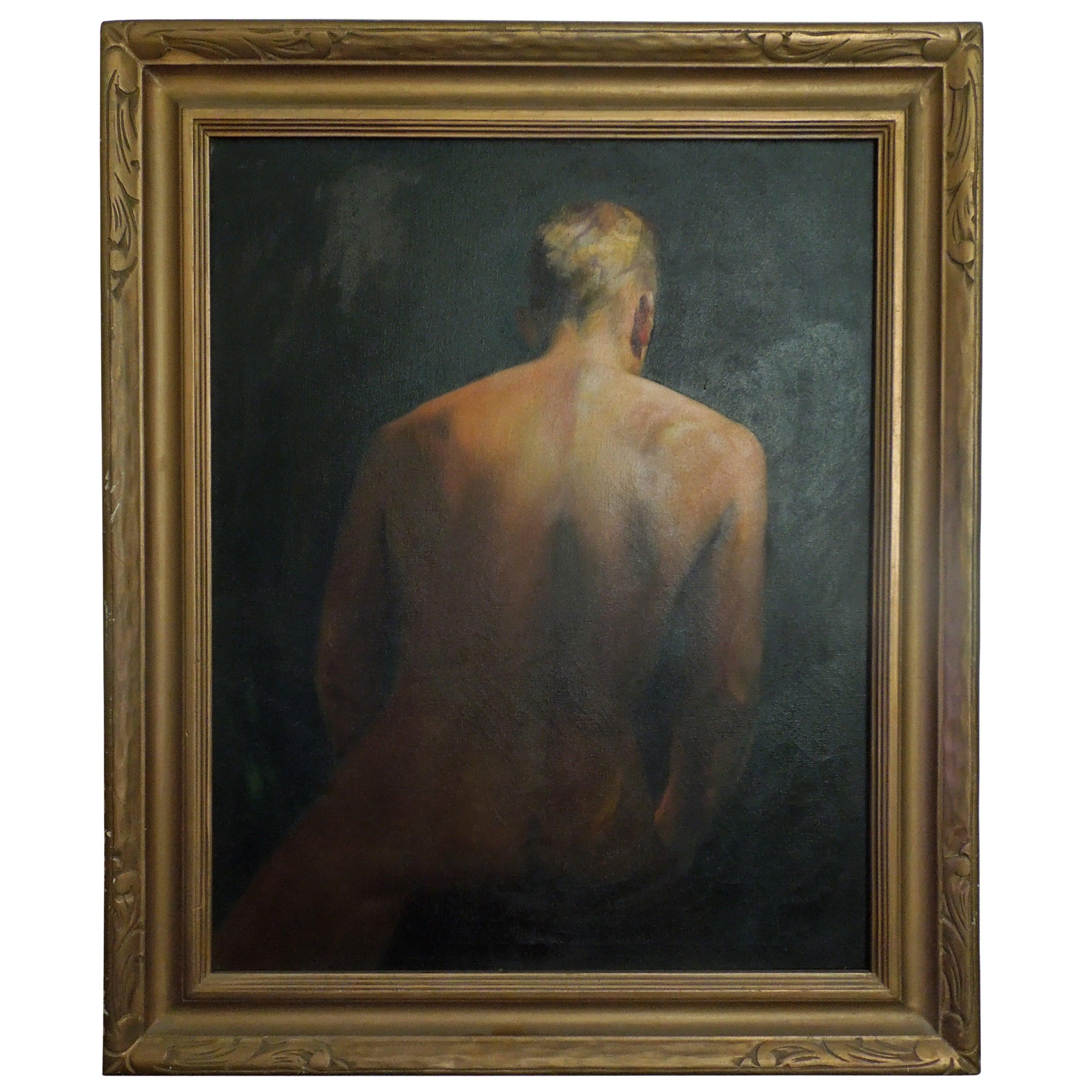 Original Mid-Century Original Painting of A Male by Hollywood Artist