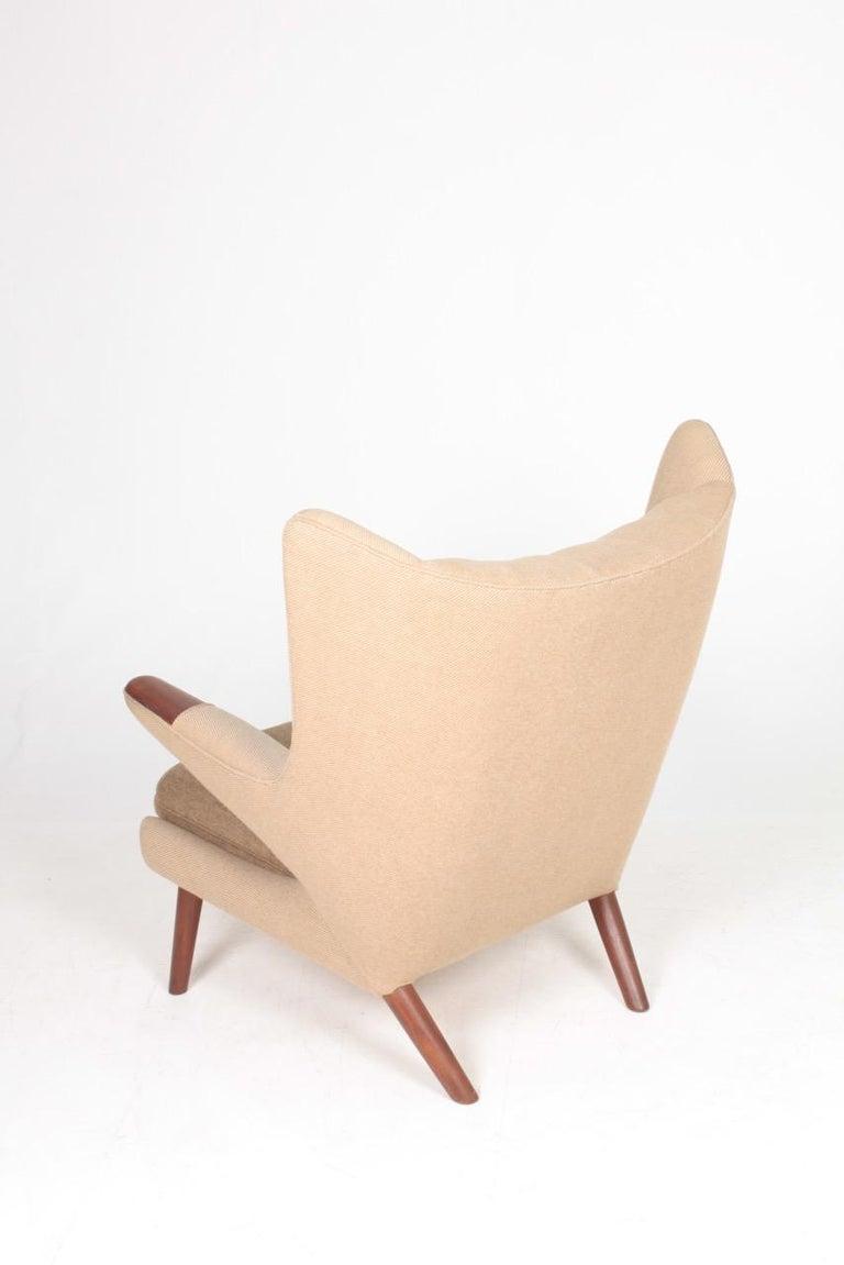Original Midcentury Papa Bear Chair by Wegner, Danish Design, 1960s For Sale 6