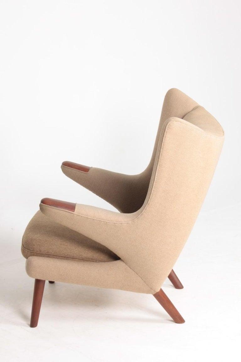 Original Midcentury Papa Bear Chair by Wegner, Danish Design, 1960s For Sale 7