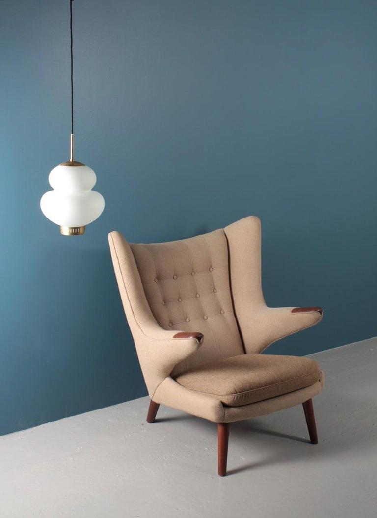 Scandinavian Modern Original Midcentury Papa Bear Chair by Wegner, Danish Design, 1960s For Sale