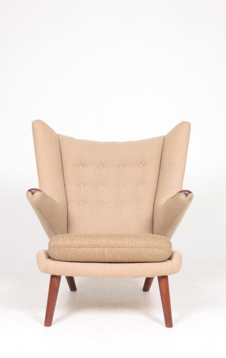 Mid-20th Century Original Midcentury Papa Bear Chair by Wegner, Danish Design, 1960s For Sale