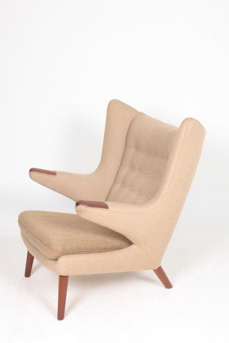Teak Original Midcentury Papa Bear Chair by Wegner, Danish Design, 1960s For Sale
