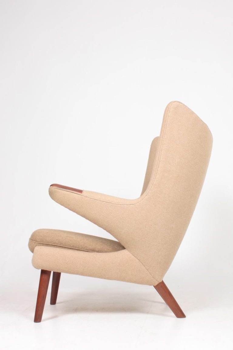 Original Midcentury Papa Bear Chair by Wegner, Danish Design, 1960s For Sale 1