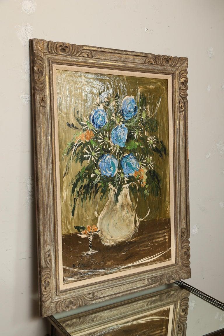 Mid-Century Modern Original Midcentury Still Life Oil Painting For Sale