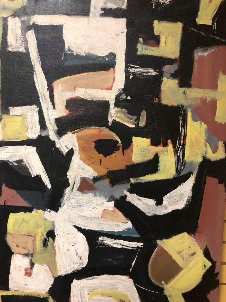 Mid-Century Modern Original Midcentury Abstract Painting by Clay Walker For Sale