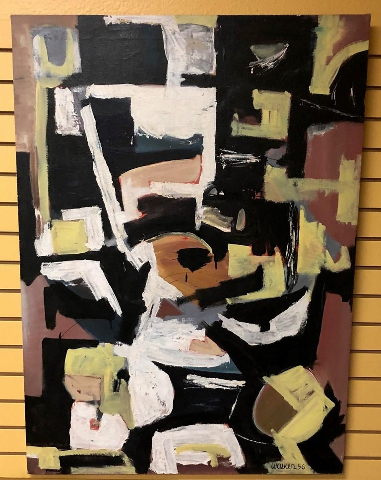 American Original Midcentury Abstract Painting by Clay Walker For Sale