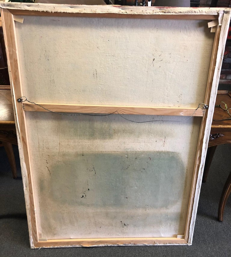 Original Midcentury Abstract Painting by Clay Walker For Sale 1