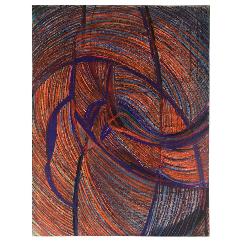 Original Midcentury Abstract Painting, Signed from Estate of James Baldwin For Sale