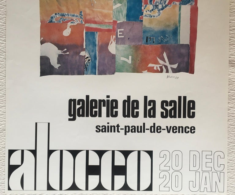 Mid-Century Modern Original Midcentury Art Exhibition Poster by Alocco For Sale