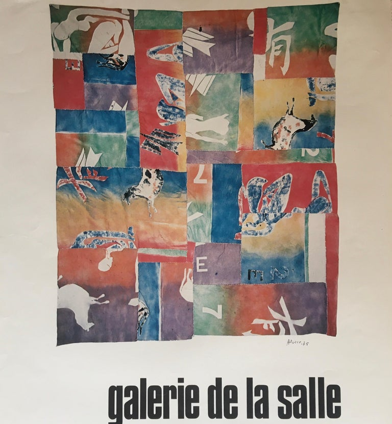 20th Century Original Midcentury Art Exhibition Poster by Alocco For Sale