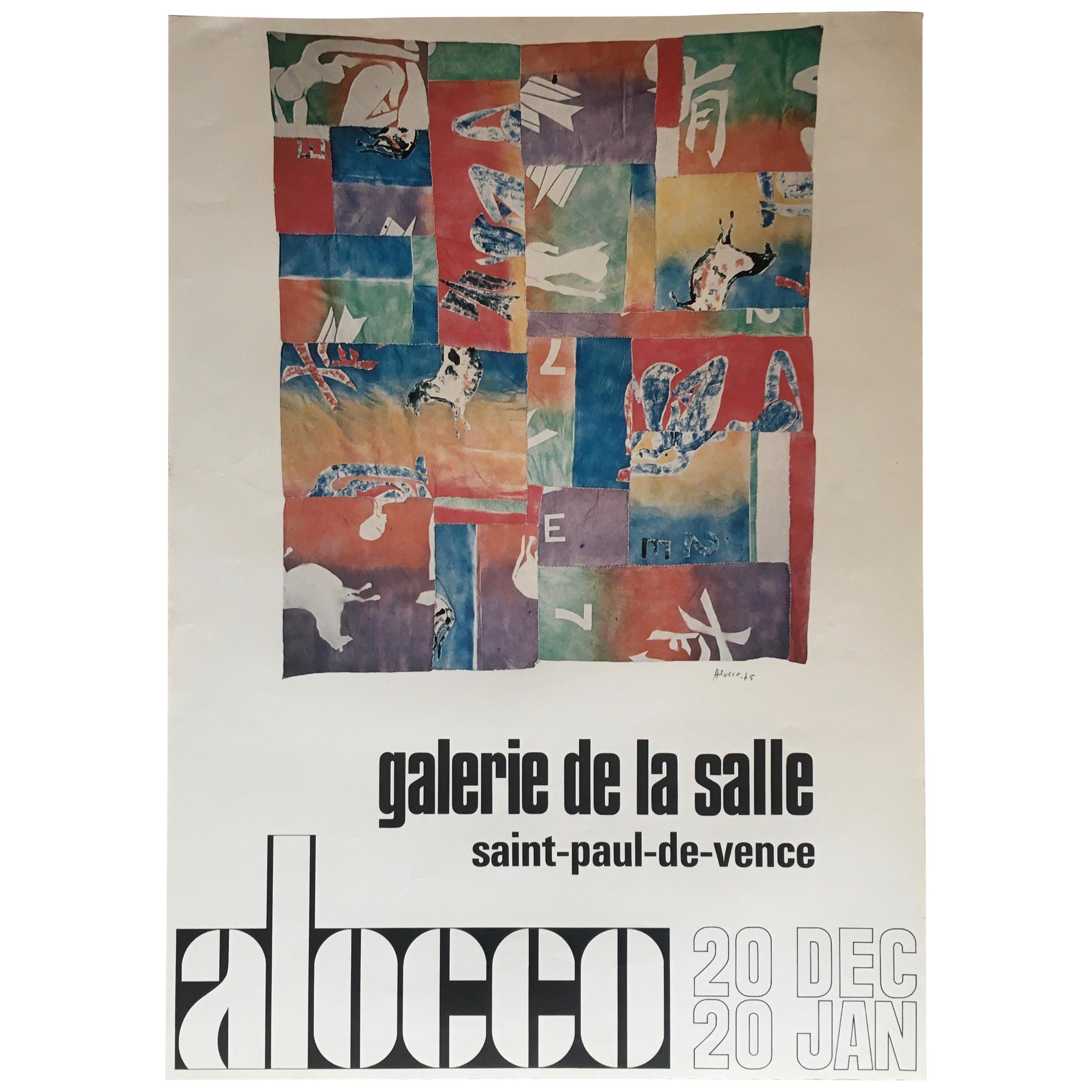 Original Midcentury Art Exhibition Poster by Alocco