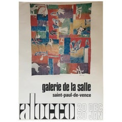 Original Midcentury Art Exhibition Poster by Alocco